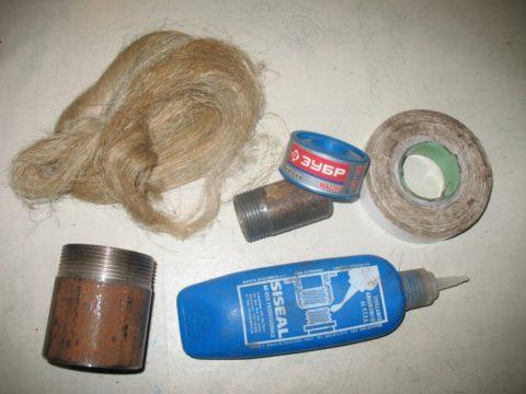 Материалы для подмотки трубных резьб