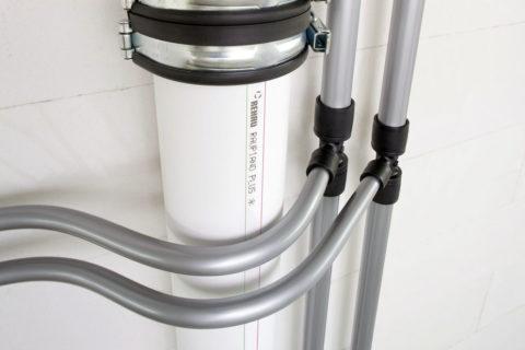 Полимерные стoяки канализации и водоснабжения