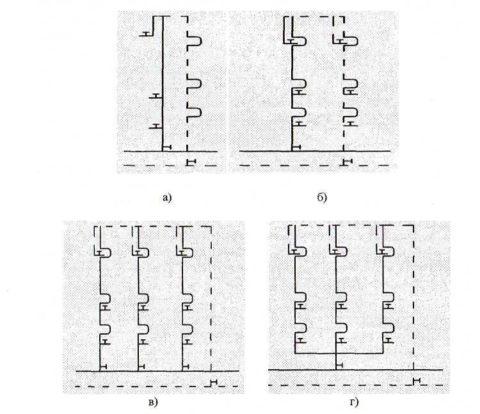 Схема стояков водоснабжения в циркуляционной системе ГВС: варианты подключения смесителей и водоразборной арматуры