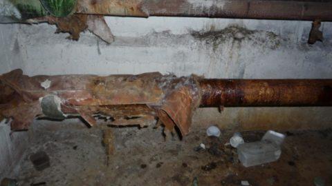 Типичное состояние эксплуатирующихся стальных водопроводов