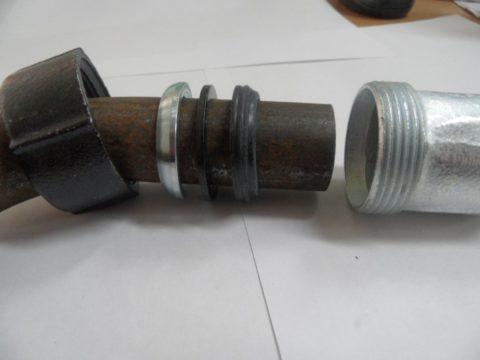 Установка компрессионного фитинга нагладкую стальную трубу