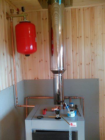 Водоснабжение— отопление для дачи:источник тепла— твердотопливный котел