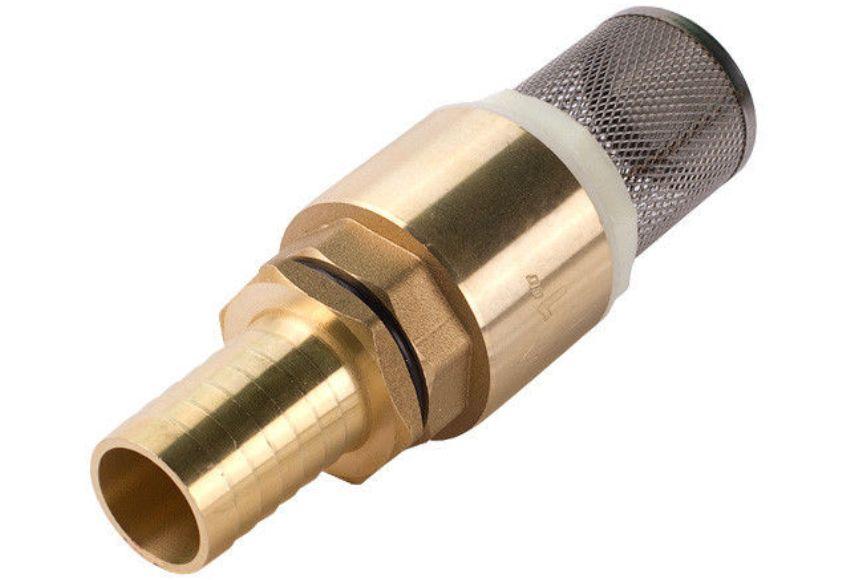 Этот донный клапан снабжен штуцером для соединения со шлангом