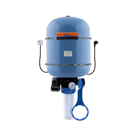 Автоматическая система водоснабжения Джилекс Краб 50работает слюбыми насосами мощностью до1100 ватт