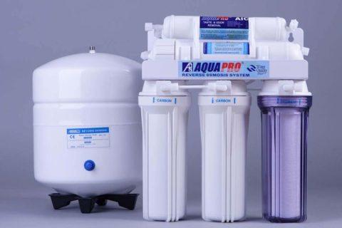 Комплект для фильтрации воды с осмотическим и угольным фильтрами