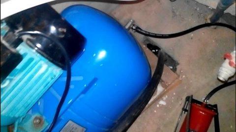 Накачка бачка автомобильным компрессором