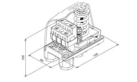 Механическое реле без крышки