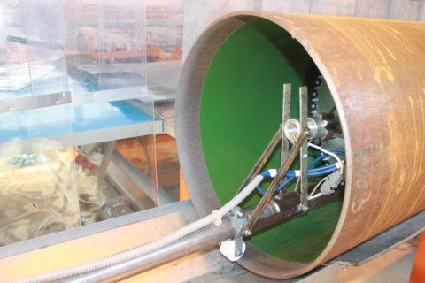 Нанесение на стальную трубу антикоррозийного покрытия