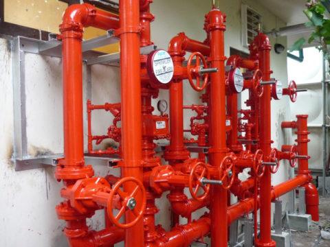 Водопровод пожарный внутренний, материал — сталь