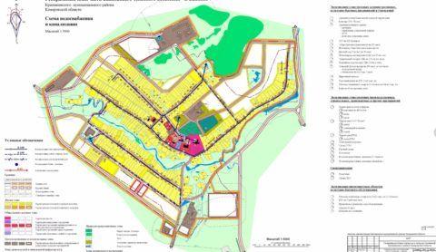 Графического отображение систем водоснабжения и водоотведения населенных мест выглядит примерно так