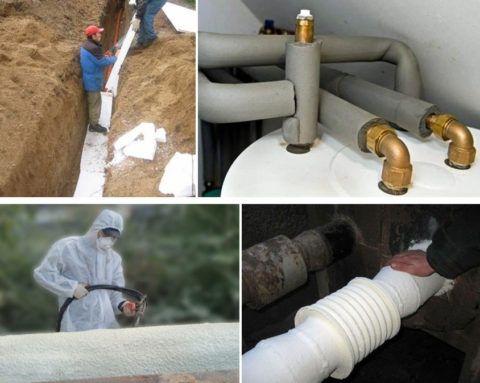 Изоляция внешних и внутренних водопроводов