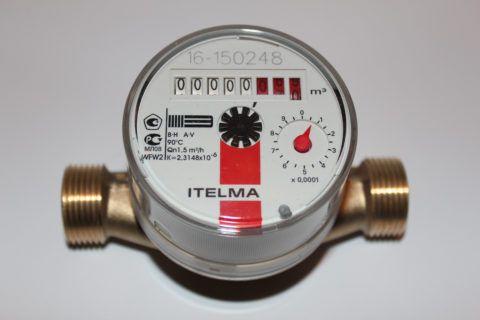 Механический прибор учитывает расход воды, не регистрируя ее температуру