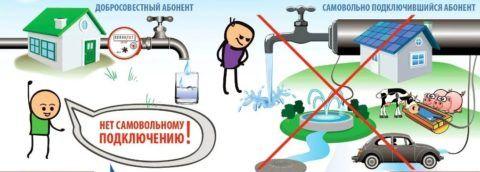 Правила пользования системой водоснабжения и канализации запрещают самовольное подключение