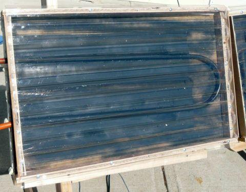Солнечный коллектор для дачи, собранный ее владельцем своими руками