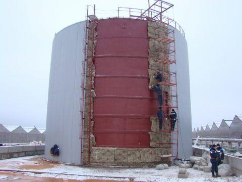Теплоизоляция аккумулирующей емкости горячего водоснабжения