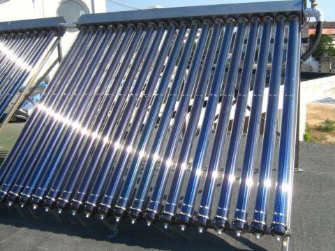 Тепловую энергию для нужд ГВС обеспечивает солнечный коллектор