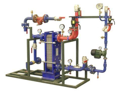 Водо-водяной теплообменник в составе современного теплового пункта
