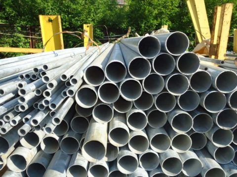Водогазопроводные трубы с цинковым покрытием