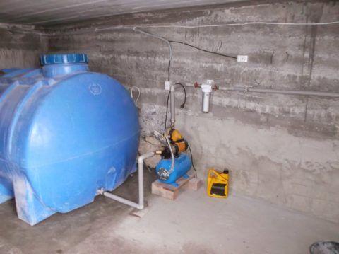 Водоснабжение насосной станцией из резервного бака