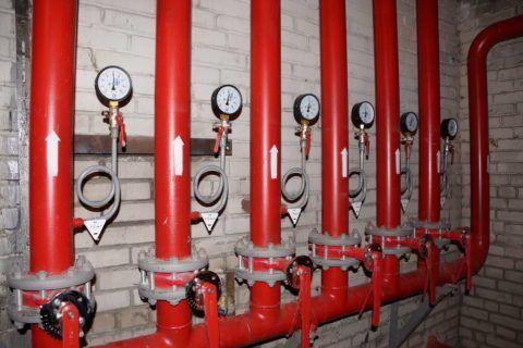 Ввод пожарного водоснабжения
