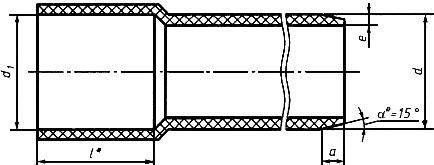 Раструб для соединения труб на клей
