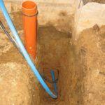 Ввод трубы в баню под фундаментом