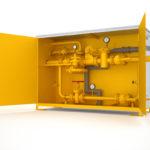 Газовый распределительный шкаф с байпасом