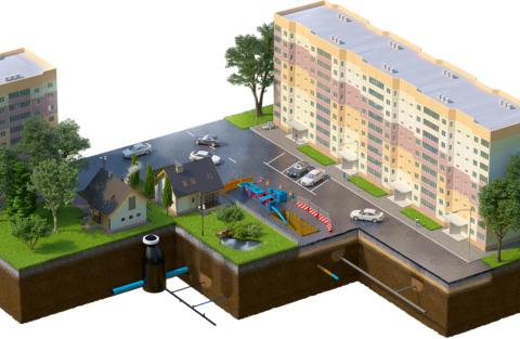 Для обеспечения водой каждого потребителя вся земля под городом пронизана трубами