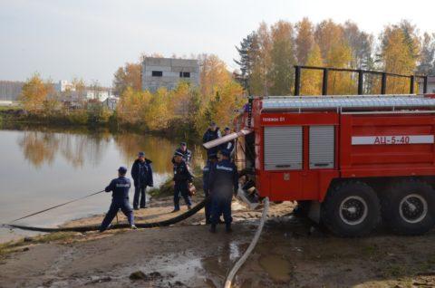 Забор воды в пожарную автоцистерну