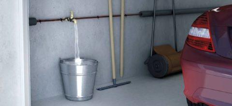 Труба медная для тепло водоснабжения с обмоткой саморегулирующимся кабелем в неотапливаемом гараже