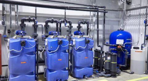 Оборудование ступенчатой очистки системой оборотного водоснабжения для мойки
