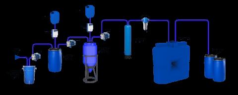 Система очистки автомойки с оборотным водоснабжением