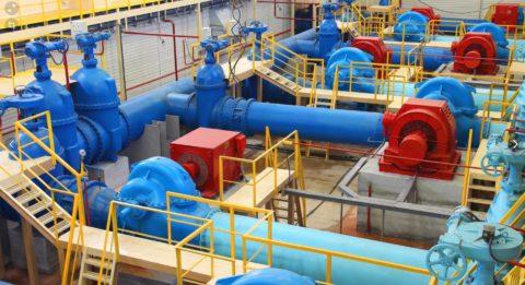 Станция с наносными агрегатами, обеспечивающая водой теплоэлектроцентраль